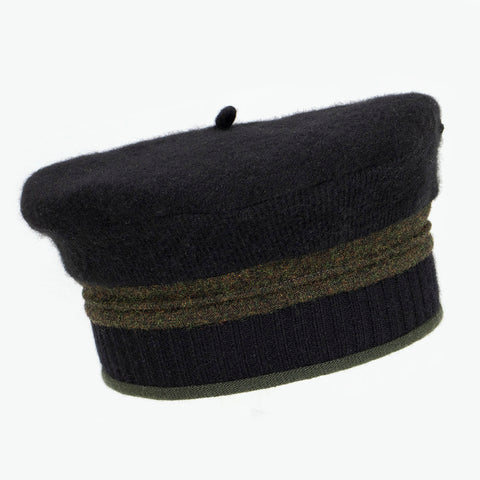 Beret BR0009 Black w/ Green - Small