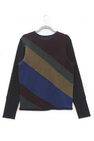 Skylar Sweater Burgundy, Navy Blue, Olive Green - Medium