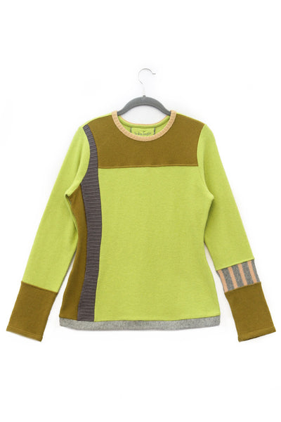 Pepper Sweater Yellow w/ Grey - X-Small