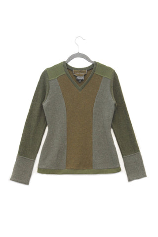 V-Neck Sweater Green - Small