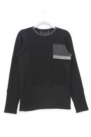 Lee Sweater Black w/ Grey - Small