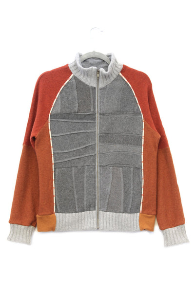 Jackson Grey w/ Orange & Stripe - Small