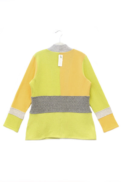 Julie Zip Citrus Yellow w/ Grey - Large