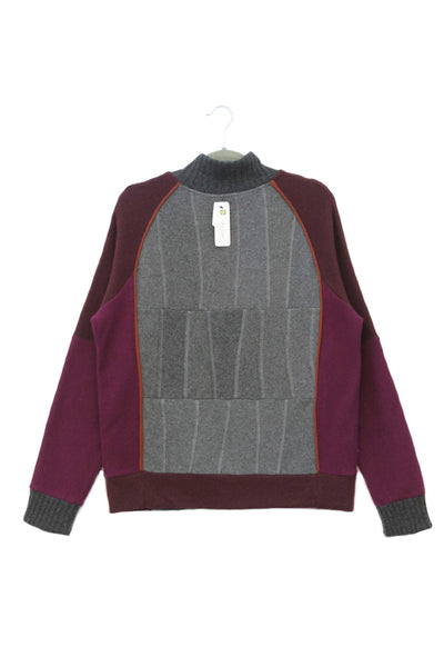 Jackson Grey & Burgundy w/ Rust - Large