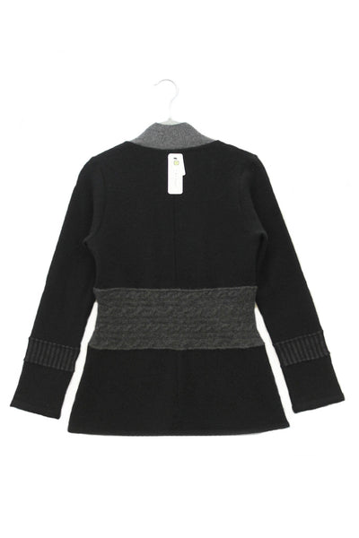 Julie Zip Black w/ Grey - X-Small