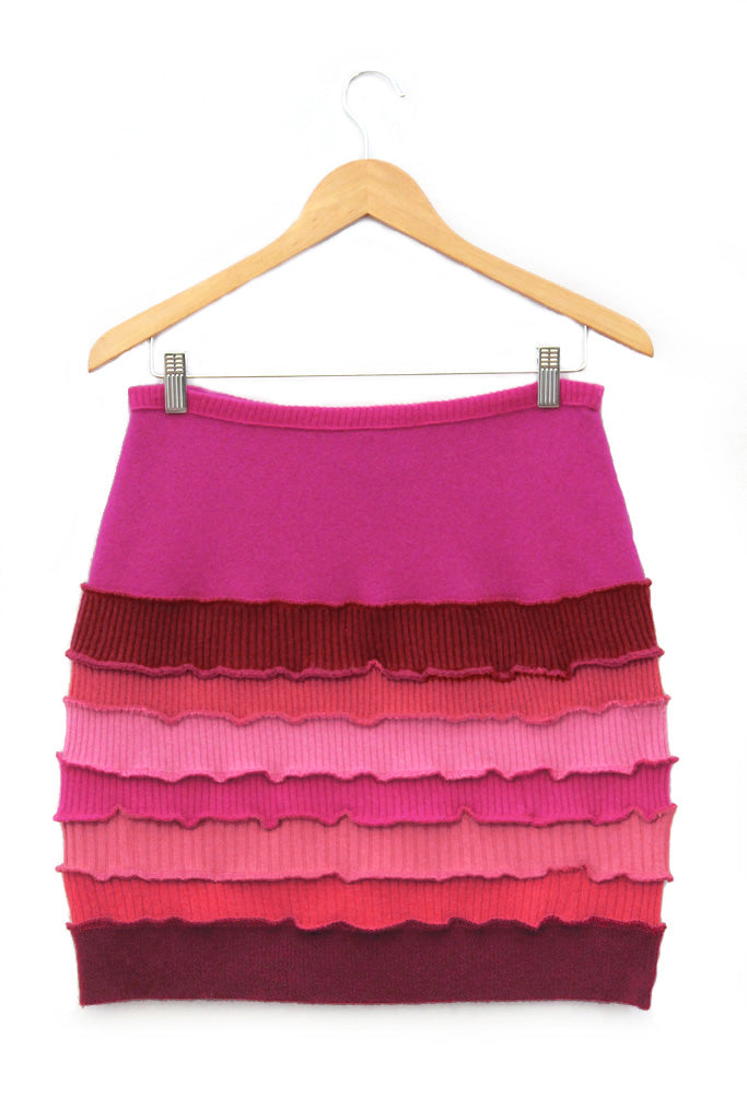Banded Mini Skirt Hot Pink - Medium