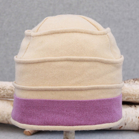 Beehive Hat B0068 Soft Yellow w/ Pastel Purple