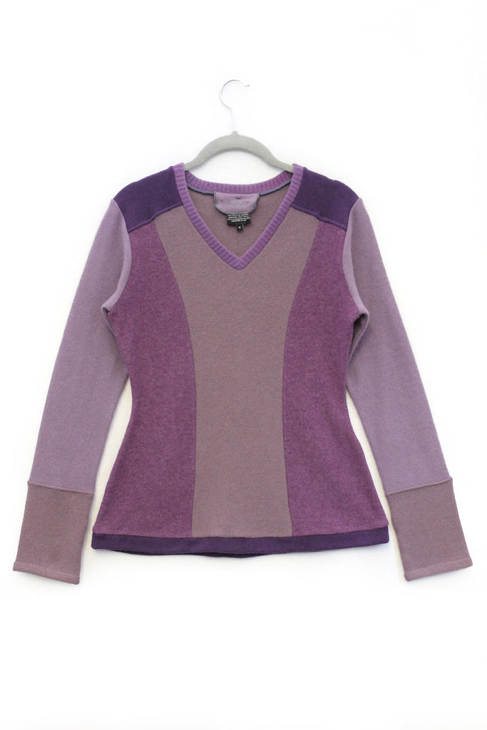 V-Neck Sweater Purple - Medium