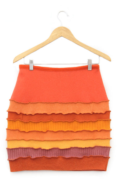 Banded Mini Skirt Sunset Orange - Medium