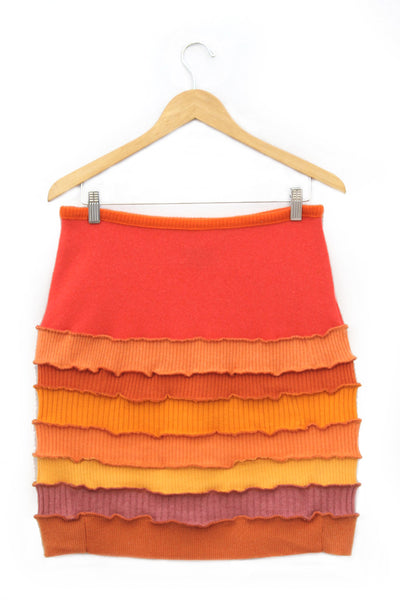 Banded Mini Skirt Sunset Orange - Large