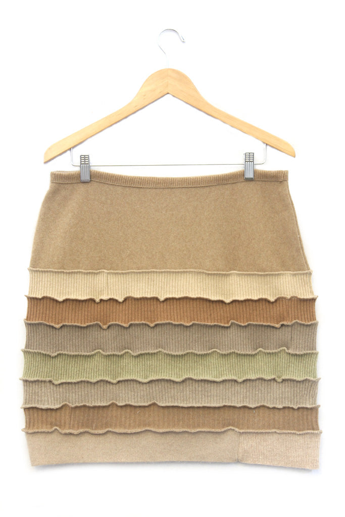 Banded Mini Skirt Camel - X-Large