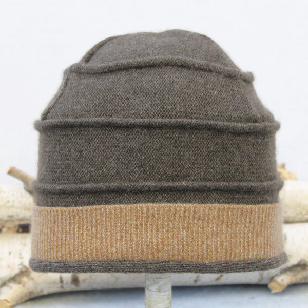 Beehive Hat B9073 Brown w/ Camel