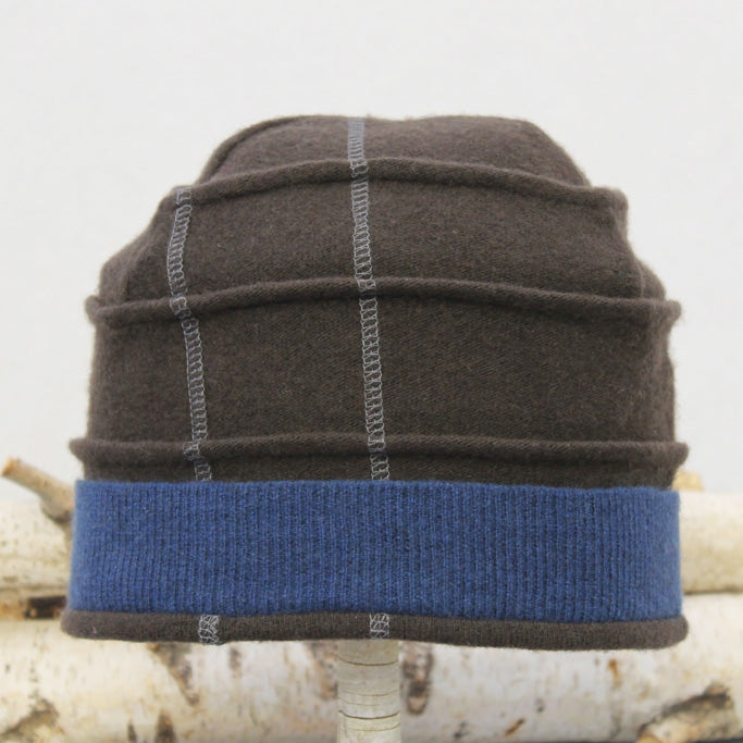 Beehive Hat B9231 Brown Split w/ Blue