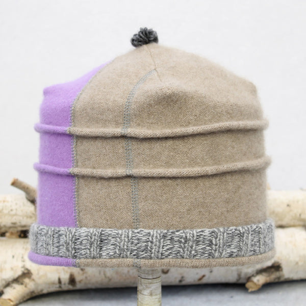 Saturn Hat S9109 Light Mocha & Lilac Split w/ Grey