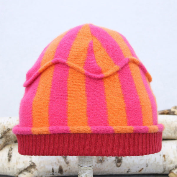 Gazebo Hat GZ9121 Pink & Orange Stripe w/ Red