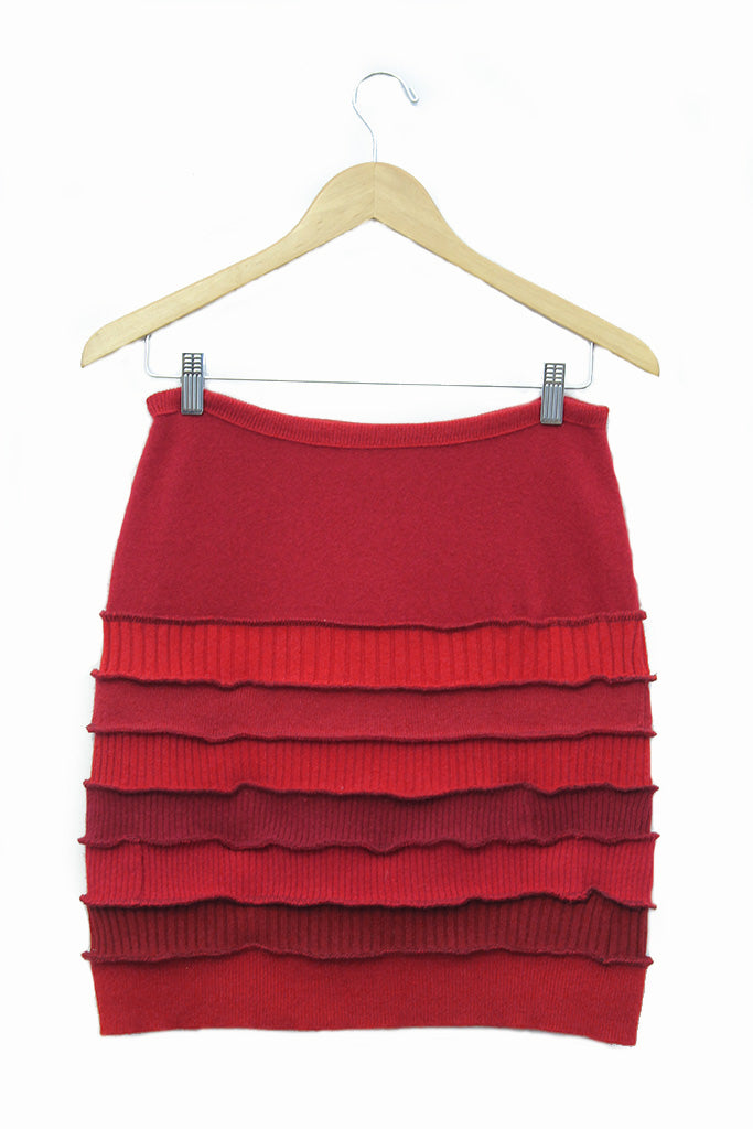 Banded Mini Skirt Red - XS - S - M - L - XL