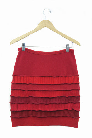 Banded Mini Skirt Red - S - L - XL