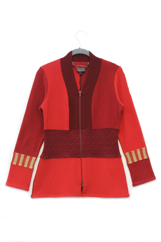 Julie Zip Red - Small