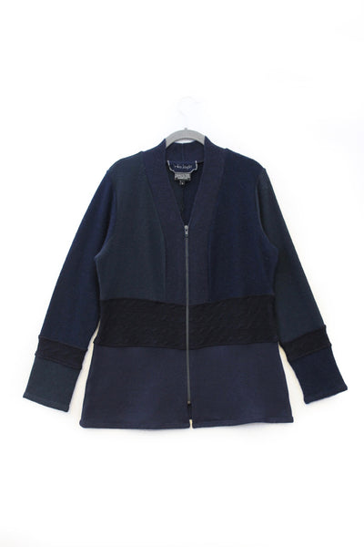 Julie Zip Navy Blue - Large