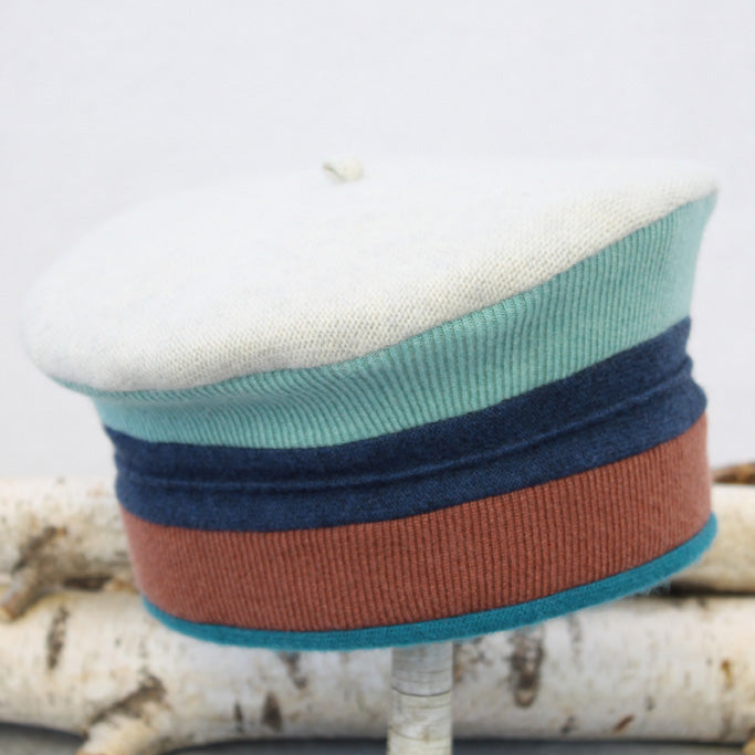 Beret BR2027 Grey w/ Blue & Copper