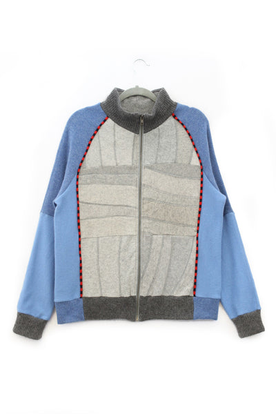 Jackson Light Grey w/ Blue and Red - Large