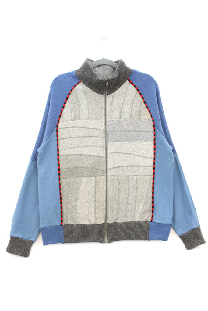 Jackson Light Grey w/ Blue & Red - X-Large