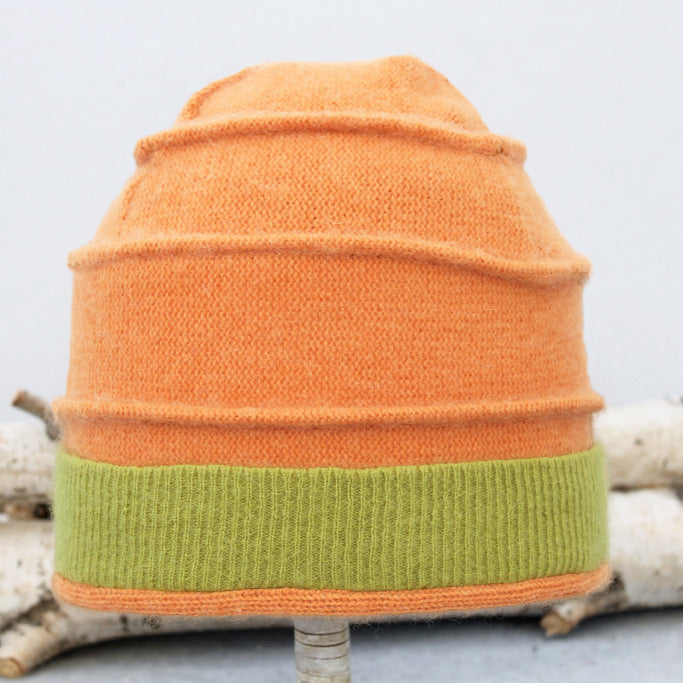Beehive Hat B9059 Orange w/ Green