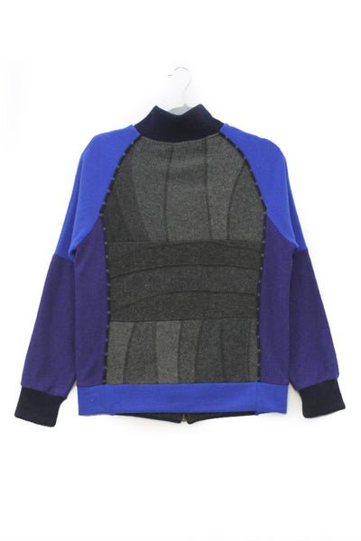 Jackson Charcoal Grey w/ Blue & Purple - Small