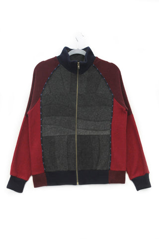 Jackson Charcoal Grey & Burgundy Red w/ Navy - Medium