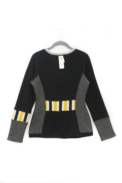 Trixie Sweater Black & Grey w/ Red - Medium