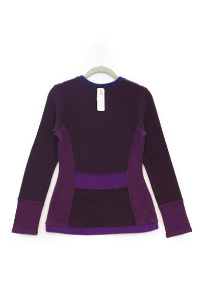 V-Neck Sweater Dark Purple- X-Small