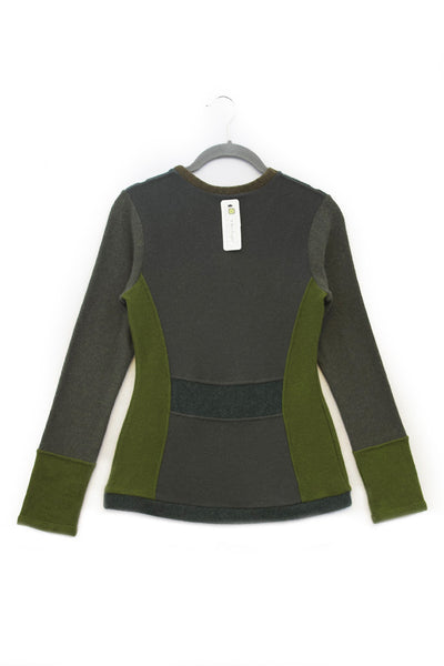 V-Neck Sweater Green- X-Small
