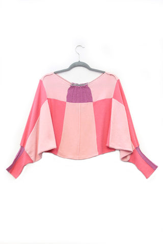 Butterfly Sweater Light Pink w/ Violet Purple - Medium