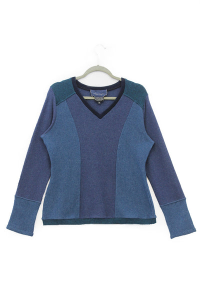 V-Neck Sweater Ocean Blues - X-Large