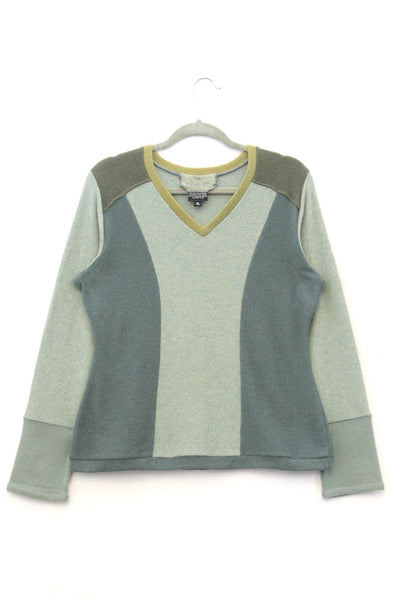 V-Neck Sweater Green - X-Large