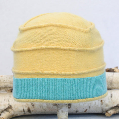 Beehive Hat B8036 Yellow w/ Turquoise