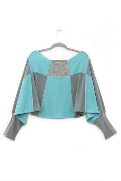 Butterfly Sweater Aqua Blue - X-Large
