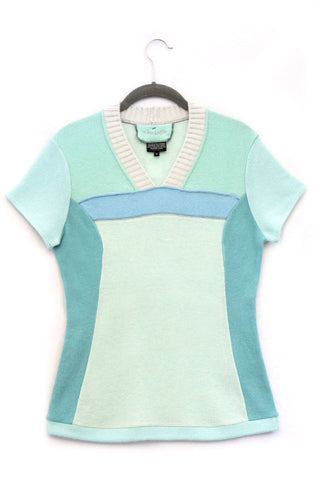 Pepper Sweater Aqua Green & Light Blue - Medium