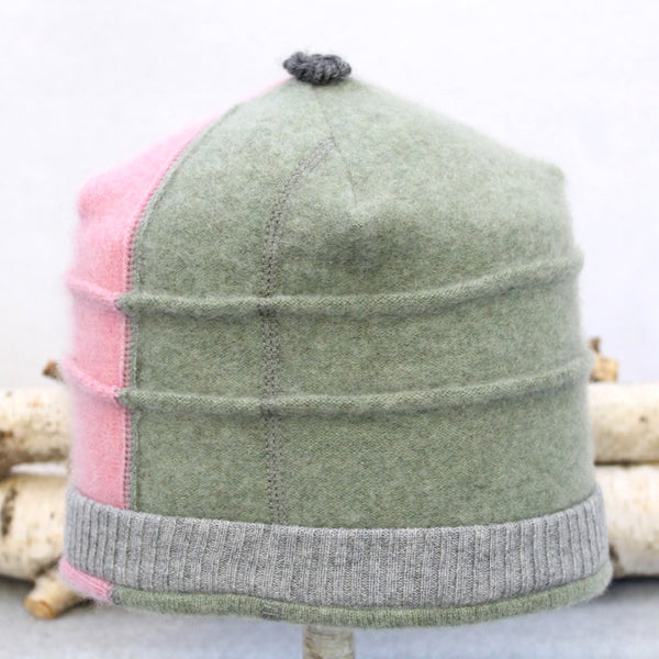 Saturn Hat S8054 Pink, Fern Green w/ Grey