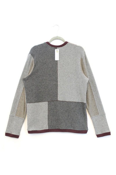 Mondrian Grey & Red  - Medium