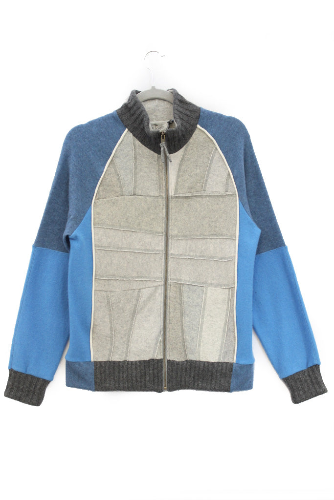 Jackson Light Grey w/ Blue - Small
