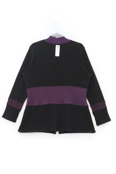 Julie Zip Black w/ Purple - XXL