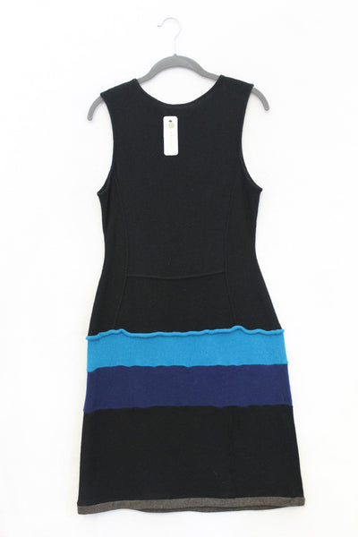 Tree of Life Dress Black, Mocha Brown w/ Blue - Large