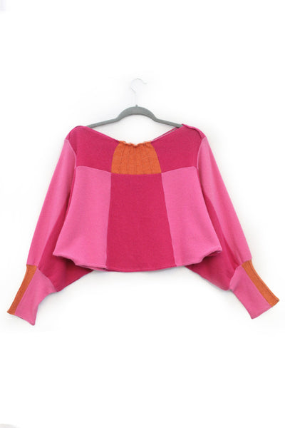 Butterfly Sweater Pink w/ Orange - Medium