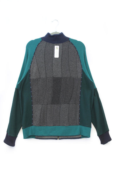 Jackson Charcoal Grey w/ Teal Green and Blue - X-Large