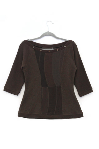 Betty Sweater Chocolate Brown - Large