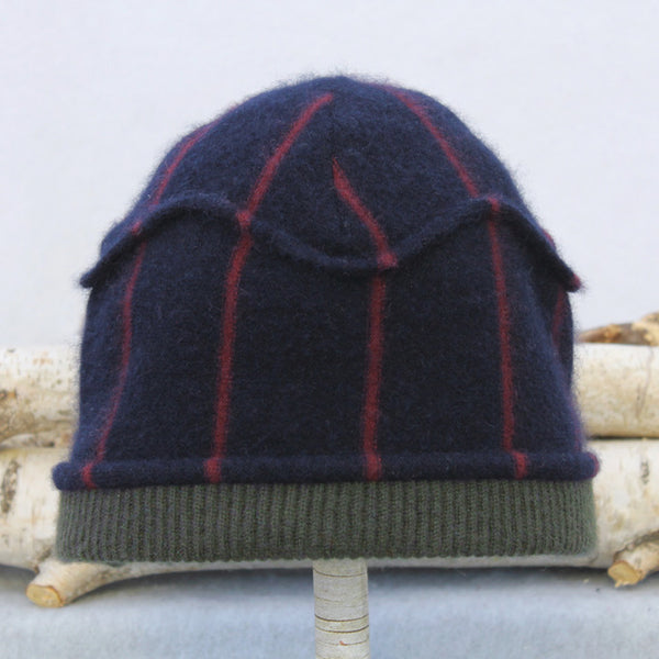 Gazebo Hat GZ9079 Navy Blue & Burgundy Stripe w/ Sage Green
