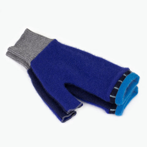 Fingerless Mitten ML0012 Blue - Large