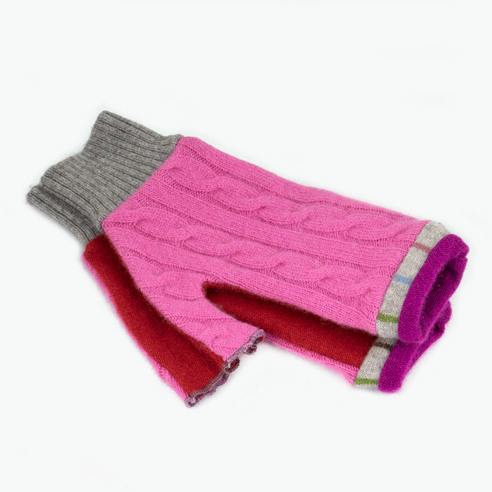 Fingerless Mitten MM0072 Pink, Red - Medium