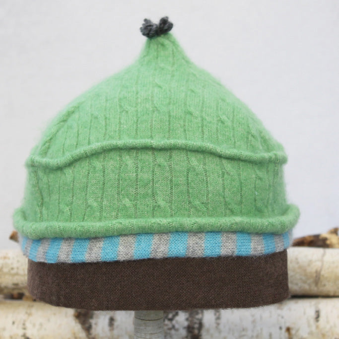 Onion Hat ON8183 Spring Green w/ Blue, Brown